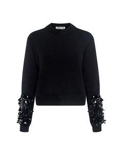 Ralph Lauren Long-Sleeve Cashmere Crewneck Sweater ($750) ❤ liked ...