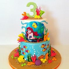Inspired Image of Little Mermaid Birthday Cakes Little Mermaid Birthday Cakes The Little Mermaid Cakecentral Little Mermaid Birthday Cake, Little Mermaid Cakes, Birthday Cake Girls, The Little Mermaid, 4th Birthday, Heart Birthday Cake, Birthday Ideas, Sirenita Cake, Super Torte