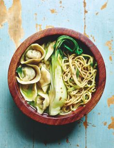How to make prawn wonton soup for just a serving. Don't miss this easy recipe from Miguel Barclay, ready in just 30 minutes Fish Recipes, Lunch Recipes, Seafood Recipes, Soup Recipes, Healthy Recipes, Savoury Recipes, Healthy Meals, Recipies, Cooking On A Budget