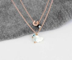 Wing charm necklace. Evil eye necklace. Lucky by lizaslittlethings, $17.00