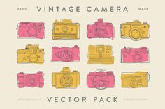 Vintage Vector Camera Pack by WOLF design on Creative Market