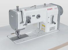 Máquina triple arrastre PFAFF 1245. Para coser materiales semipesados como, p.ej., en el tapizado de muebles y de automóviles, prendas de vestir de cuero, .