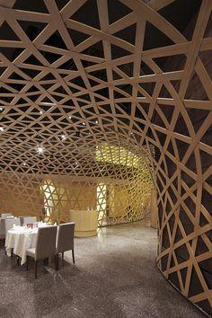 Restaurant? Some amazing geodesic structure.