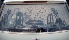 Here's a great example Dirty Car Art by Scott Wade! Please Like,Pin,or Comment. Thanks.  http://j.gs/100549/cars