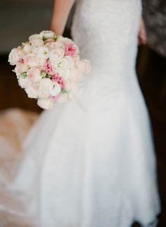 Lovely peach, pink and white bouquet