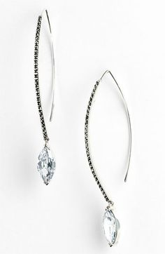 Judith Jack Linear Marquise Drop Earrings available at #Nordstrom