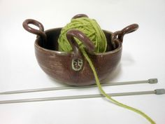 Eggplant Purple Decorative Yarn Bowl