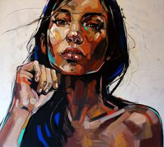 Painting means reflection, not production. This simple, though often forgotten truth, is brilliantly reminded by Anna Bocek. Acrylic Portrait Painting, Abstract Portrait, Painting & Drawing, Art Photography Portrait, Portrait Art, Illustration Au Crayon, Tableau Pop Art, Human Art, Human Human