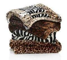 animal prints faux fur throws
