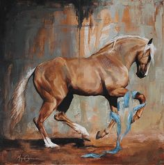 "Morgan Cameron Art ""Turquoise Palomino- Theater Horse oil on canvas. Horse Oil Painting, Horse Paintings, Pastel Paintings, Horse Artwork, Cowboy Art, Horse Drawings, Equine Art, Pretty Horses, Horse Pictures"
