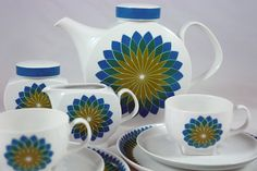 'Budapest' tea set designed by Axel Wolfgang Werner for Melitta in 1968 by H is for Home, via Flickr