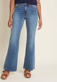 3c5032173 Creative Companion Wide-Leg Jeans in Dark Wash in XXS - Wide Denim Pant  Long by ModCloth