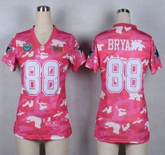 Nike Dallas Cowboys Jersey 88 Dez Bryant 2014 Salute to Service Pink Camo Womens Jerseys