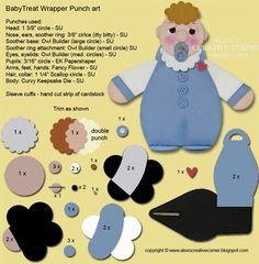 Alex's Creative Corner: Baby Shower Curvy Keepsake Treat Holder