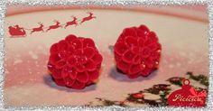 Dahlia cabochon earrings