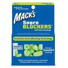 Macks Snore BLOCKERS Soft Foam Earplugs (12 Pairs)