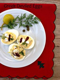 Greek Deviled Eggs with Feta
