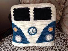 Items similar to VW Campervan Crochet Campervan Cushion / Pillow vdub camper splitty on Etsy Crochet Cushion Cover, Crochet Cushions, Cushion Pillow, Pillows, Cushion Covers, Vw Bus, Volkswagen, Crochet Home, Knit Crochet