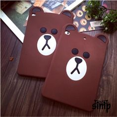 Protect your cell phone with this stylish silicone skin case -- Cartoon Soft Rubber Silicone Brown Bear Case Cover Fashion Tablets Cases for iPad Mini 4 3 scratches, chips and fingerprints from accumulating on your iPad. Cute Ipad Cases, 3d Cartoon, Skin Case, Brown Bear, Ipad Mini, Strong, Cover, Fashion, Moda