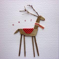 Driftwood Reindeer Card