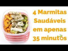 Receita: Como Preparar Marmita Saudável Para a Semana em 35 minutos - YouTube
