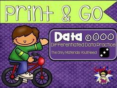Data Roll: Print and Go from Super in Second on TeachersNotebook.com -  (25 pages)  - Want to reinforce data and graphing in your classroom? These no prep - print and go activities are perfect for small group workstations. The pages are already differentiated to for ALL learners.