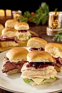 Mini Turkey Sliders with Cranberry Sauce are the perfect way to use up any holiday leftovers. Substitute ham or chicken for a twist on this satisfying snack. Get all the ingredients you need for delicious holiday appetizers at prices you can afford at Walmart.