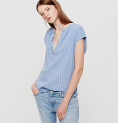 Alluringly shadow striped, we love this gauzy cotton piece - it's totally easy…