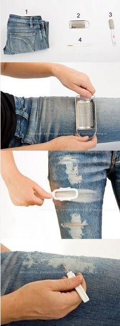 DIY designer jeans