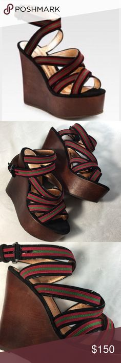{Marc by Marc Jacobs} Criss Cross Wedge Sandal {Marc by Marc Jacobs} Criss Cross Wedge Sandal. Sz 7 (37) Excellent condition. Marc by Marc Jacobs Shoes Wedges