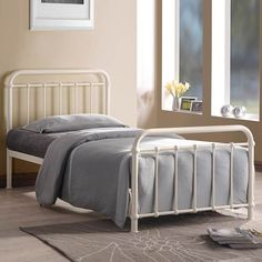 miami metal frame bed sizecolour options by time living - Steel Frame Bed