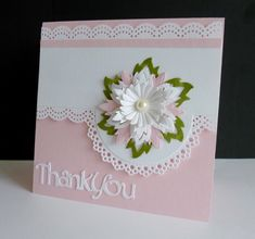 SC579 ~ Frilly thanks by sistersandie - Cards and Paper Crafts at Splitcoaststampers