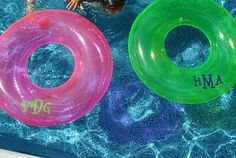 monogrammed ring floats