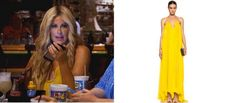 Kim Zolciak's Yellow Maxi Dress in Destin on Don't be Tardy // Chloe Silk Gown http://www.bigblondehair.com/real-housewives/kim-zolciaks-yellow-maxi-dress-in-destin/