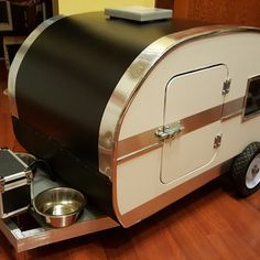 Dogie Camper for home and Travel Yorkie Names, Small Fan, Happy Campers, Camping, Windows, Flooring, Wood, Building, Babys
