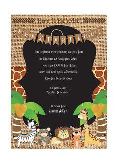 Christening Invitations Boy, Boy Christening, Jungle Theme, Wonderland, Drink, Baby, Food, Essen, Babys