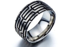 Cool Mens Ring for Him/Stainless Steel Rings/Anniversary Gift for Men/Steampunk Men Ring/Gothic Ring/Hipster Jewelry/Edgy Jewelry