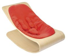 Bloom Coco Stylewood Baby Lounger with Seat Pad, Natural Frame, Harvest Orange (Leatherette) found via V I N T A G E S O U L S . love it (not the price tag so much, but . Best Baby Bouncer, Bouncer Swing, Modern Baby Furniture, Coco Baby, Bloom Baby, Seat Pads, Natural Baby, Baby Essentials, Baby Gear