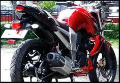Modifikasi Yamaha Byson Touring Warna Merah Putih Biru | www.OtoKawan.com | Review, Harga, dan Tips Otomotif