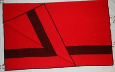 Vintage-Wool-Blanket-Stadium-Throw-Red-Black-54-x-68-Inches  At the Vacaville Vintage Market 1-19-13....
