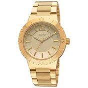 Euro - Relógio Dourado Dourado Metal Aço de R$200,01 até R$300,00 Redondo Trava por segurança – euro