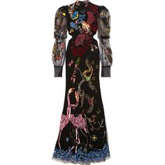 Alexander McQueen Embellished cutout tulle gown ($14,550) ❤ liked on Polyvore featuring dresses, gowns, cocktail dresses, sequin dresses, tulle evening dress, evening dresses and special occasion dresses