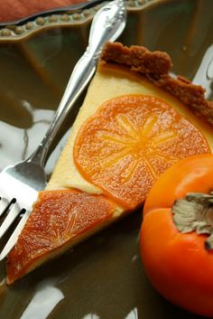 A Baking Life: once upon a time///  Spiced Persimmon Tart yields one 11-inch tart