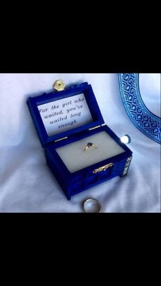 for the girl who waited tardis wedding ring box with led light handmade tardis engagement ring box doctor who proposal box made in usa i want my future - Dr Who Wedding Ring