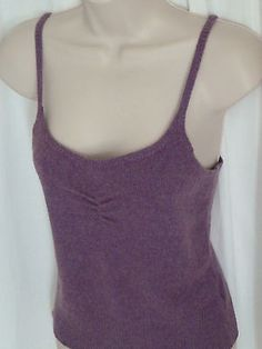 GAP Purple Knit Tank Blouse S Cami Top Scoop Neck Spaghetti Strap