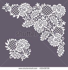 Lace Frame. Clip Art. - stock vector