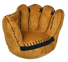 Charming Soft And Plush This Baseball Glove Chair Will Be Your MVPu0027s Favorite Chair  To Sit In. This Adds Decor To Any Boys Room And Will Be The Center Of  Attention.