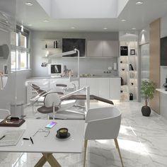Clinic Interior Design, Spa Interior, White Interior Design, Clinic Design, Dental Clinic Logo, Dentist Clinic, Dental Office Decor, Medical Office Design, Cabinet Medical