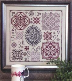 Rosewood Manor One Dozen Quakers Cross Stitch Pattern