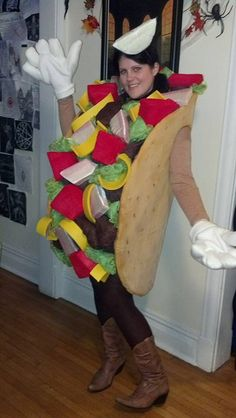 Hand made taco costume  sc 1 st  Pinterest & DIY NO-SEW FELT TACO COSTUME FOR KIDS | Pinterest | Taco costume ...